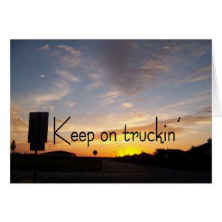 Truckinで保って下さい カード