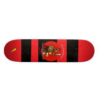 """TRUEWALKBOARDS 7の¾の""""戦士の稲妻板 21.6CM オールドスクールスケートボードデッキ"""