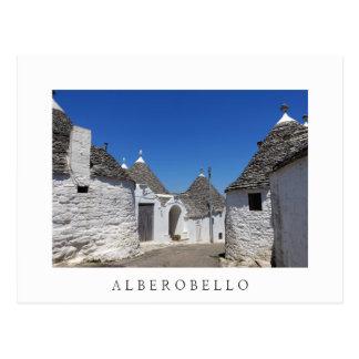 Trulliの家、AlberobelloのPugliaの白の郵便はがき ポストカード