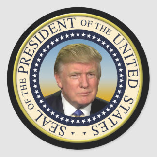 Trump Photo Presidential Seal大統領 ラウンドシール
