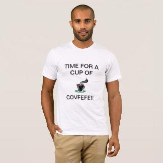 TRUMPS FAMOUS WORDS COVFEFEのコーヒーワイシャツの大統領 Tシャツ