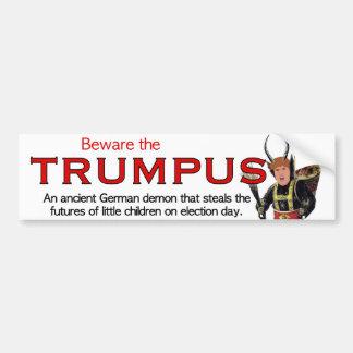 Trumpusを用心して下さい!  大きいTrumpus バンパーステッカー