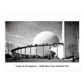 Trylon及びPerisphere - 1939年のニューヨークの万国博覧会P ポストカード