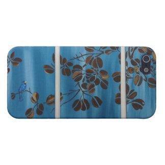 Tryptic青いつる植物 iPhone SE/5/5sケース