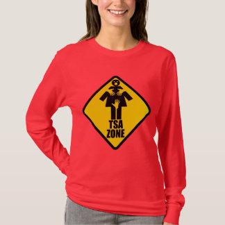TSAの地帯の注意の印のデザイン Tシャツ