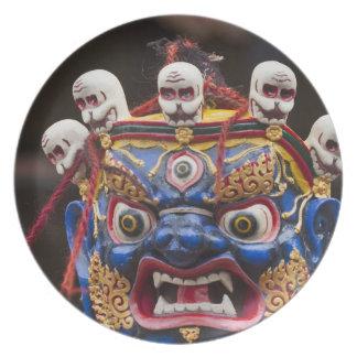 Tshechuのフェスティバル2のマスクのダンスの性能 プレート
