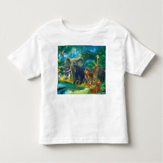 Tshirt enfants animaux de la jungle トドラーTシャツ