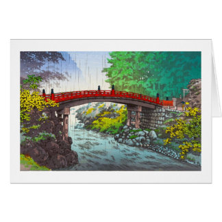 Tsuchiya Koitsu日光神聖な橋日本人場面 カード