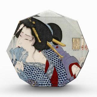 Tsukioka Yoshitoshiの月岡芳年-苦痛を見ます 表彰盾