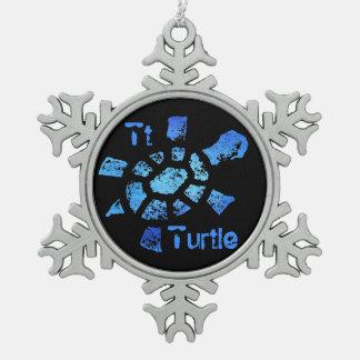 TTは青海原のカメのためです スノーフレークピューターオーナメント