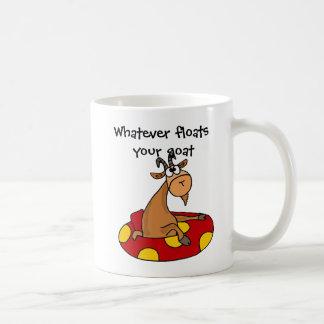 TU-あなたのヤギの漫画を浮かべるものは何でもおもしろい コーヒーマグカップ