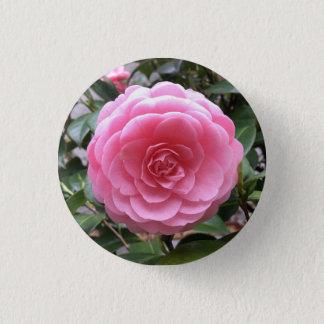 Tubaki Camellia Flower 3.2cm 丸型バッジ