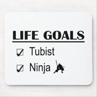 Tubistの忍者の生命ゴール マウスパッド
