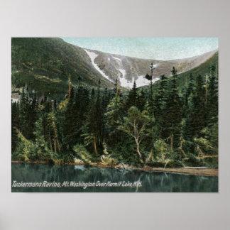 Tuckermans峡谷、Mt.ワシントン州の眺め ポスター