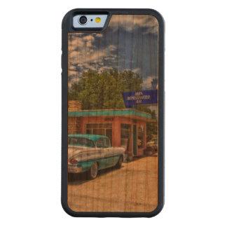 Tucumcari、NM - Rt 66 CarvedチェリーiPhone 6バンパーケース