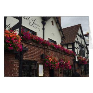 TudorのホテルのStratfordにAvonイギリスのイギリスの写真 カード