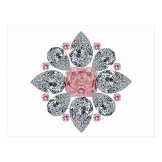 Tudorのローズピンクのダイヤモンド ポストカード