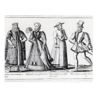 Tudorの期間の間のファッション ポストカード