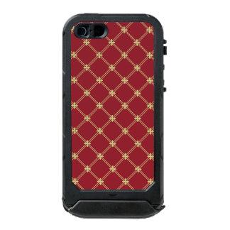 Tudorの赤および金ゴールドのダイヤモンドパターン ウォータープルーフiPhone SE/5/5sケース