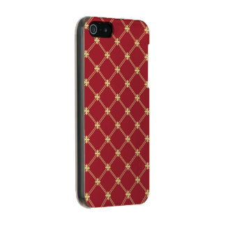 Tudorの赤および金ゴールドのダイヤモンドパターン メタリックiPhone SE/5/5sケース