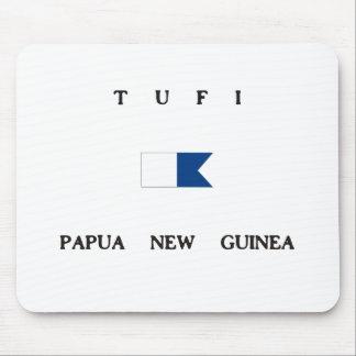 Tufiパプアニューギニアのアルファ飛び込みの旗 マウスパッド