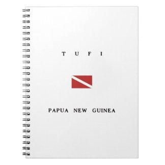 Tufiパプアニューギニアのスキューバ飛び込みの旗 ノートブック