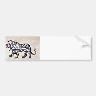 Tugraのライオン バンパーステッカー