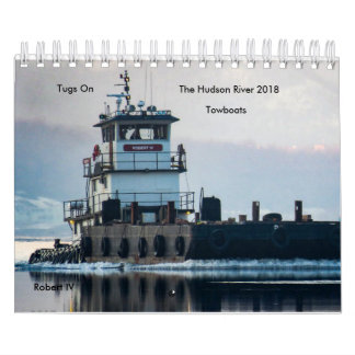 Tugs On The Hudson River Towboats 2018 カレンダー