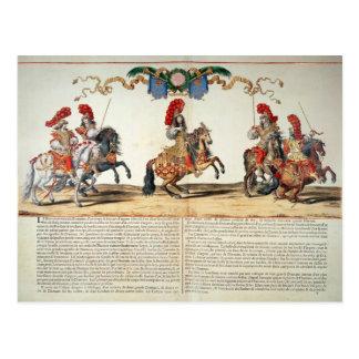 Tuileriesのルイ14世前部による回転木馬 ポストカード