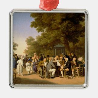 Tuileriesの庭の政治家、1832年 メタルオーナメント