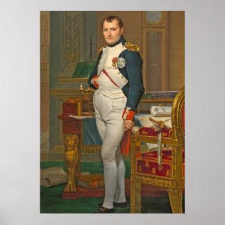 Tuileriesの彼の勉強の皇帝ナポレオン ポスター