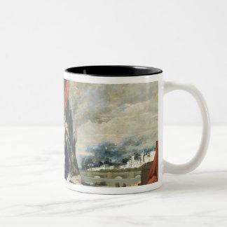 Tuileriesの燃焼、1871年 ツートーンマグカップ
