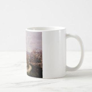 Tuileriesの眺め、カミーユ・ピサロ著朝 コーヒーマグカップ