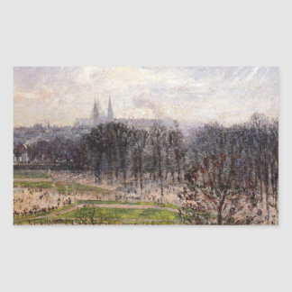 Tuileriesは午後カミーユによって冬の庭いじりをします 長方形シール