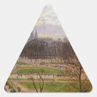 Tuilleriesは午後カミーユによって冬の庭いじりをします 三角形シール