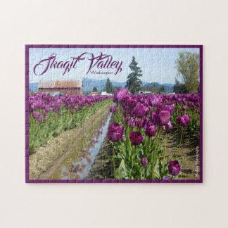 Tulip Fields (Purple) & Barn (Skagit Valley) ジグソーパズル