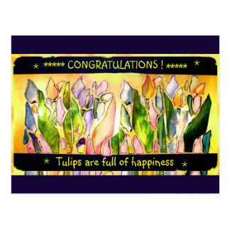 Tulip Square Congratulations Post Cards ポストカード