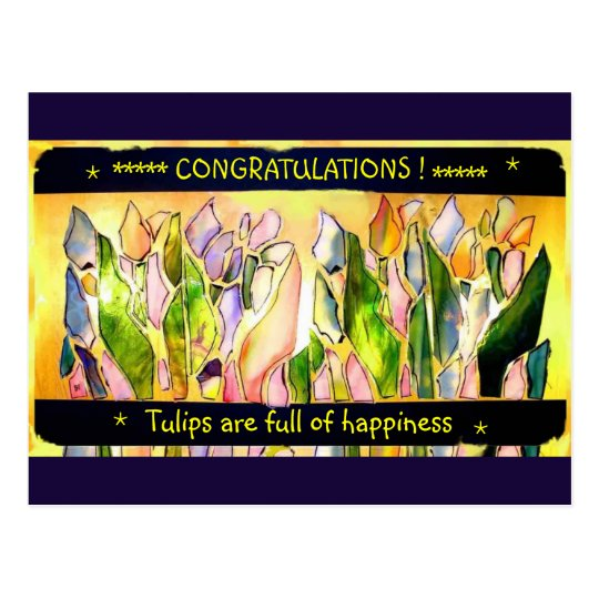 Tulip Square Congratulations Post Cards ポストカード