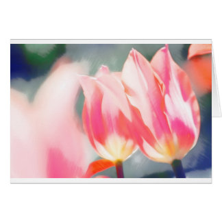 Tulipaのデュオのスケッチ グリーティングカード