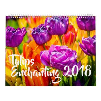 Tulips Enchanting beautiful カレンダー