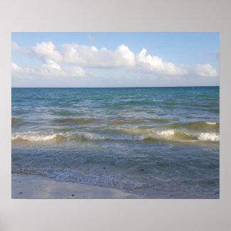 Tulum、メキシコのビーチ場面 ポスター