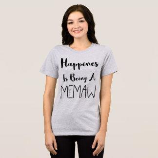 TumblrのTシャツの幸福はMemawです Tシャツ