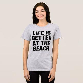 TumblrのTシャツの生命はビーチでよりよいです Tシャツ