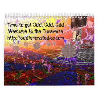 Tunaverseの2011年のカレンダー カレンダー