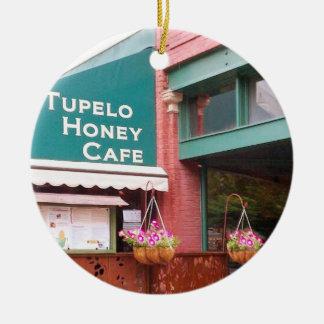 Tupeloの蜂蜜のカフェ、アシュビル、ノースカロライナ、Ornamen セラミックオーナメント