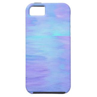 TuquoiseおよびLavendarの水彩画 iPhone SE/5/5s ケース