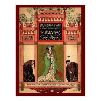 TurandotのPucciniオペラ ポストカード