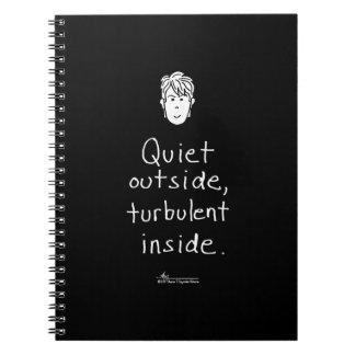 Turbulent Inside Black Notebook ノートブック