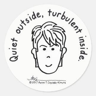 Turbulent Inside Sticker ラウンドシール