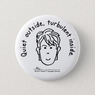 Turbulent Inside White Button 缶バッジ
